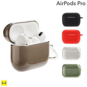AirPods Pro ケース エアーポッズ プロ カバー シリコン USAMS カラビナ付き ケー...