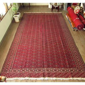 オールドキリム・西トルクメンヤムート380×205cm大型ケッレサイズ赤いジジム織り