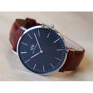 ダニエル ウェリントン DANIEL WELLINGTON 腕時計 DW00100130 DW00600130 シルバー 40mm CLASSIC ST MAWES クラシック セントモース ブラック|ippin