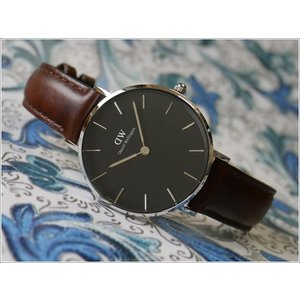 ダニエル ウェリントン DANIEL WELLINGTON 腕時計 DW00100177 DW00600177 シルバー 32mm PETITE BRISTOL ペティット ブリストル ブラック|ippin