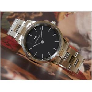 ダニエル ウェリントン DANIEL WELLINGTON 腕時計 DW00100204 シルバー 36mm ICONIC LINK アイコニックリンク ブラック|ippin