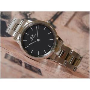 ダニエル ウェリントン DANIEL WELLINGTON 腕時計 DW00100206 シルバー 32mm ICONIC LINK アイコニックリンク ブラック|ippin