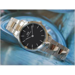 ダニエル ウェリントン DANIEL WELLINGTON 腕時計 DW00100208 シルバー 28mm ICONIC LINK アイコニックリンク ブラック|ippin