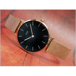 ダニエル ウェリントン DANIEL WELLINGTON 腕時計 DW00100217 DW00600217 ローズゴールド 28mm PETITE MELROSE ペティット メルローズ ブラック|ippin