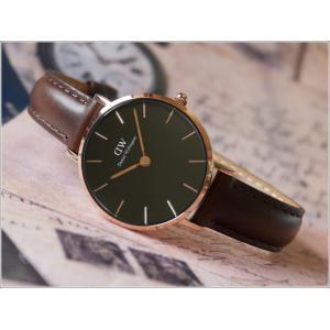 ダニエル ウェリントン DANIEL WELLINGTON 腕時計 DW00100221 DW00600221 ローズゴールド 28mm PETITE BRISTOL ペティット ブリストル ブラック|ippin