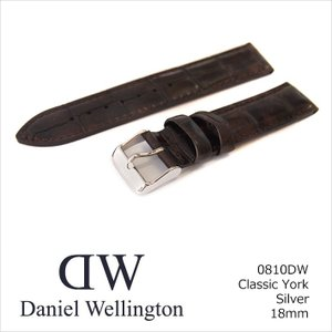 ダニエル ウェリントン DANIEL WELLINGTON 替ベルト 0810DW シルバー 18mm幅 CLASSIC YORK クラシック ヨーク|ippin