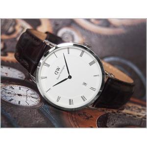 ダニエル ウェリントン DANIEL WELLINGTON 腕時計 1122DW シルバー 38mm DAPPER YORK ダッパー ヨーク|ippin