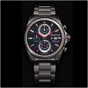 エレガントシス elegantsis 腕時計 ELJT42R-6B03MA レーシングスタイル スーパーバイクモデル|ippin