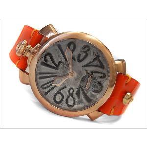ガガミラノ GAGA MILANO 腕時計 5011.VINTAGE WH/ORベルト レザーベルト ippin