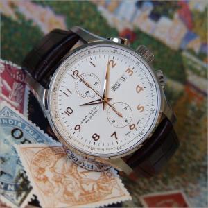ハミルトン HAMILTON 腕時計 H32766513 ジャズマスター マエストロ オートクロノ レザーベルト メンズ 自動巻|ippin