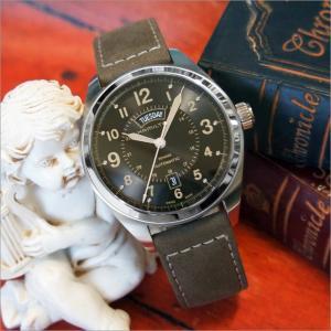 ハミルトン HAMILTON 腕時計 H70505833 カーキフィールド デイデイト レザーベルト メンズ 自動巻|ippin