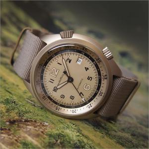 ハミルトン HAMILTON 腕時計 H80435895 カーキ パイロット パイオニア アルミニウムオート テキスタイルベルト メンズ 自動巻|ippin