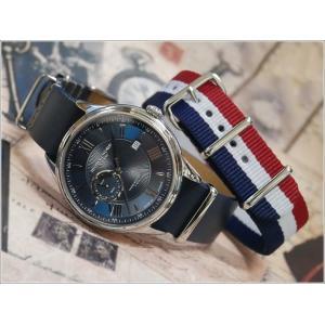 ハンティングワールド HUNTING WORLD 腕時計 HWG010SBL テキスタイル替ベルト付 レザーベルト クォーツ|ippin