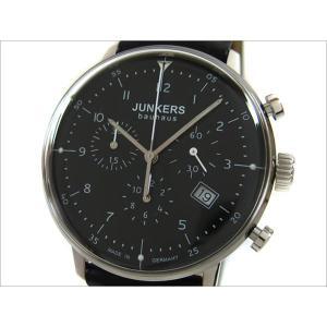 ユンカース JUNKERS 腕時計 BAUHAUS 6086-2QZ クォーツ クロノグラフ ブラック|ippin