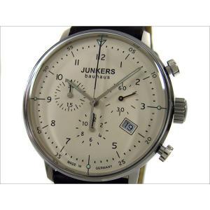 ユンカース JUNKERS 腕時計 BAUHAUS 6086-5QZ クォーツ クロノグラフ クリーム|ippin