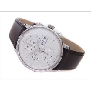 ユンハンス JUNGHANS 腕時計 027/4120.01 機械式自動巻 レザーベルト クロノスコープ|ippin
