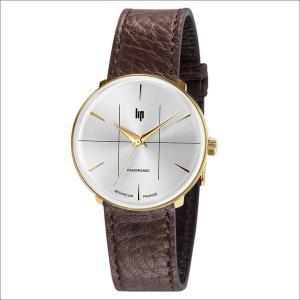 リップ LIP 腕時計 671060 パノラミック レザーベルト クォーツ|ippin