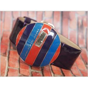 マークバイマークジェイコブス MARC BY MARC JACOBS 腕時計 アフィストライプ 43mm レザーベルト MBM2040|ippin