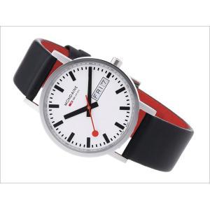 モンディーン MONDAINE 腕時計 A667.30314.11SBB ニュークラシック 36mm ホワイト文字盤 ブラックレザーストラップ|ippin