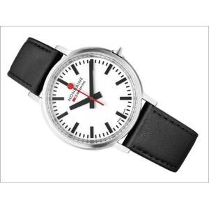 モンディーン MONDAINE 腕時計 MONDAINE MST.4101B.LB STOP TO GO 41mm ホワイト文字盤 ブラックレザーストラップ|ippin