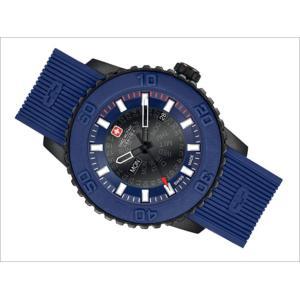 スイスミリタリー SWISS MILITARY 腕時計 TWILIGHT ML417 3針 ネイビー 47mm メンズ シリコンベルト|ippin