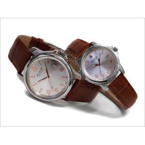 スイスミリタリー SWISS MILITARY 腕時計 ペアウォッチ ROMAN ピンクゴールド針 レザーベルト ML381 ML383|ippin
