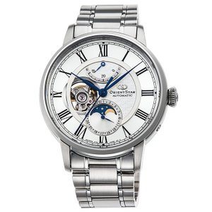 オリエント ORIENT 腕時計 RK-AM0005S メカニカルムーンフェイズ メタルベルト メンズ|ippin