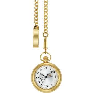 オリエント ORIENT 懐中時計 ワールドステージコレクション 手巻 WV0021DD チェーン付き ゴールド ippin