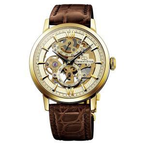 オリエント ORIENT 腕時計 オリエントスター スケルトン 機械式 WZ0031DX レザーベルト メンズ|ippin