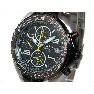 パルサー PULSAR 腕時計 アラームクロノグラフ PF3183 ブラック メタルベルト|ippin