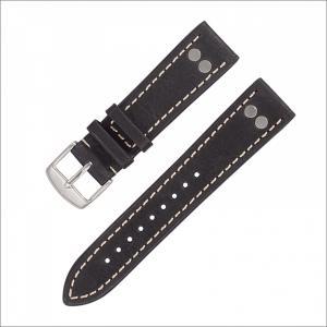 Laco ラコ 401861 レザーストラップ ブラック 20mm幅|ippin