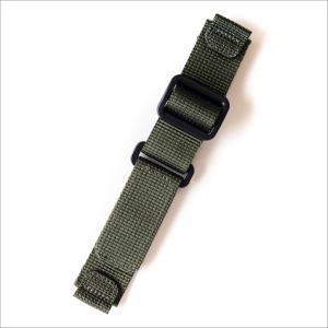 時計替ベルト ナイロン カーキ 20mm幅|ippin