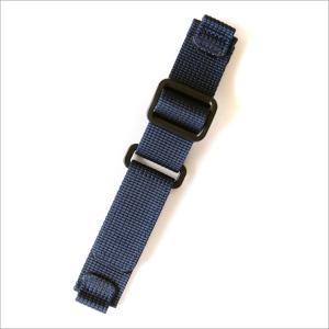 時計替ベルト ナイロン ブルー 20mm幅|ippin