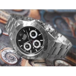 エルジン ELGIN 腕時計 クロノグラフ FK1059S-B ブラック メタルベルト|ippin
