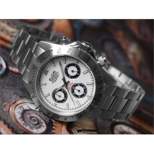 エルジン ELGIN 腕時計 クロノグラフ FK1059S-W ホワイト メタルベルト|ippin