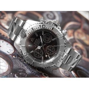 エルジン ELGIN 腕時計 クロノグラフ FK1120S-B ブラック メタルベルト|ippin