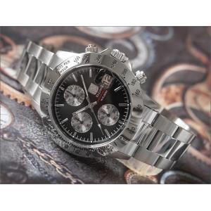 エルジン ELGIN 腕時計 クロノグラフ FK1184S-B ブラック メタルベルト|ippin