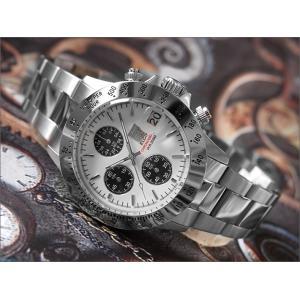エルジン ELGIN 腕時計 クロノグラフ FK1184S-W ホワイト メタルベルト|ippin