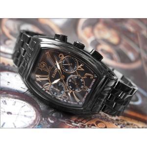 エルジン ELGIN 腕時計 クロノグラフ FK1215B-B ブラックIP メタルベルト|ippin