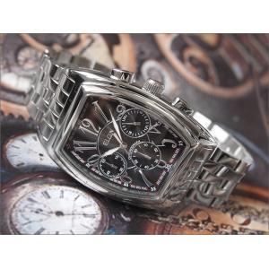 エルジン ELGIN 腕時計 クロノグラフ FK1215S-B ブラック メタルベルト ippin
