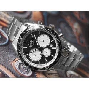 エルジン ELGIN 腕時計 クロノグラフ FK1401S-B ブラック メタルベルト|ippin