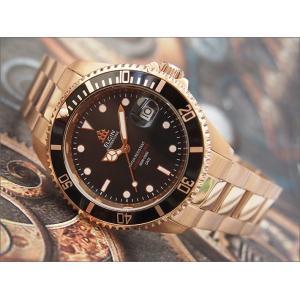 エルジン ELGIN 腕時計 オートマチック FK1405PG-B ブラック メタルベルト|ippin