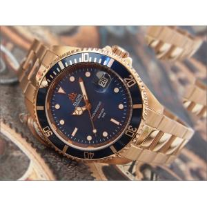 エルジン ELGIN 腕時計 オートマチック FK1405PG-BL ブルー メタルベルト|ippin