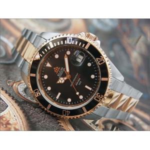 エルジン ELGIN 腕時計 オートマチック FK1405PS-B ブラック メタルベルト ippin
