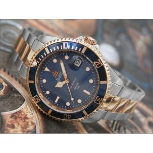 エルジン ELGIN 腕時計 オートマチック FK1405PS-BL ブルー メタルベルト|ippin