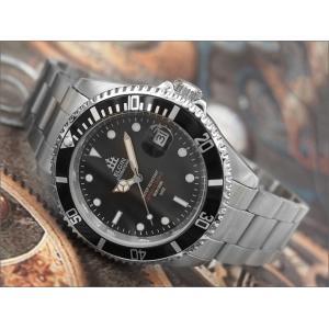 エルジン ELGIN 腕時計 オートマチック FK1405S-B ブラック メタルベルト ippin