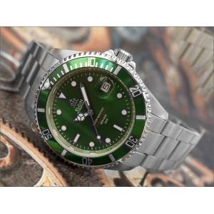エルジン ELGIN 腕時計 オートマチック FK1405S-GR グリーン メタルベルト|ippin
