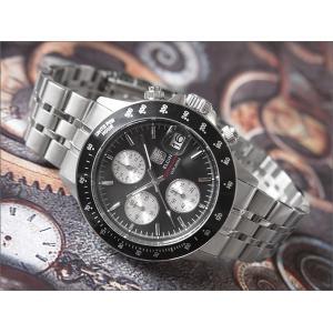 エルジン ELGIN 腕時計 クロノグラフ FK1408S-B ブラック メタルベルト|ippin