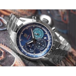 エルジン ELGIN 腕時計 クロノグラフ FK1411S-BL ブルー メタルベルト|ippin