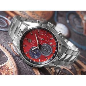 エルジン ELGIN 腕時計 クロノグラフ FK1411S-R レッド メタルベルト|ippin